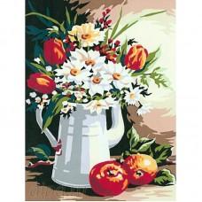 Букет и ябълки - Картина по номера CX 3757