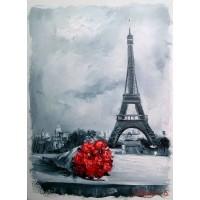 Цветя в Париж - Картина по номера CX 3822