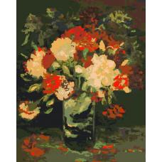Картина по номера -  Хубави цветя  ZG-387