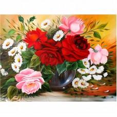 Картина по номера - Букет от рози ZG-0264