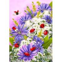 Калинки и цветя - Картина по номера CX 3895