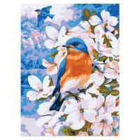 Пролетни птици - Картина по номера CX 3894