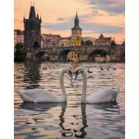 GI 304162 Лебеди на Темза - Диамантен гоблен