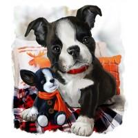 GI 304164 Забавни кучета - Диамантен гоблен