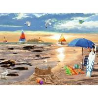 PZ 304163 Пясъчен замък  - Диамантен гоблен