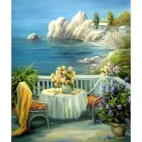 PZ 304164 Лятна тераса - Диамантен гоблен