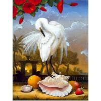 GI 304168 Бяла птица - Диамантен гоблен