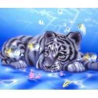 Тигър и риба - диамантен гоблен GI 404005