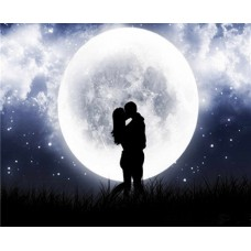 Среща под луната - диамантен гоблен LD 404058