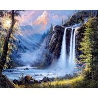 Водопад- диамантен гоблен PZ 405009